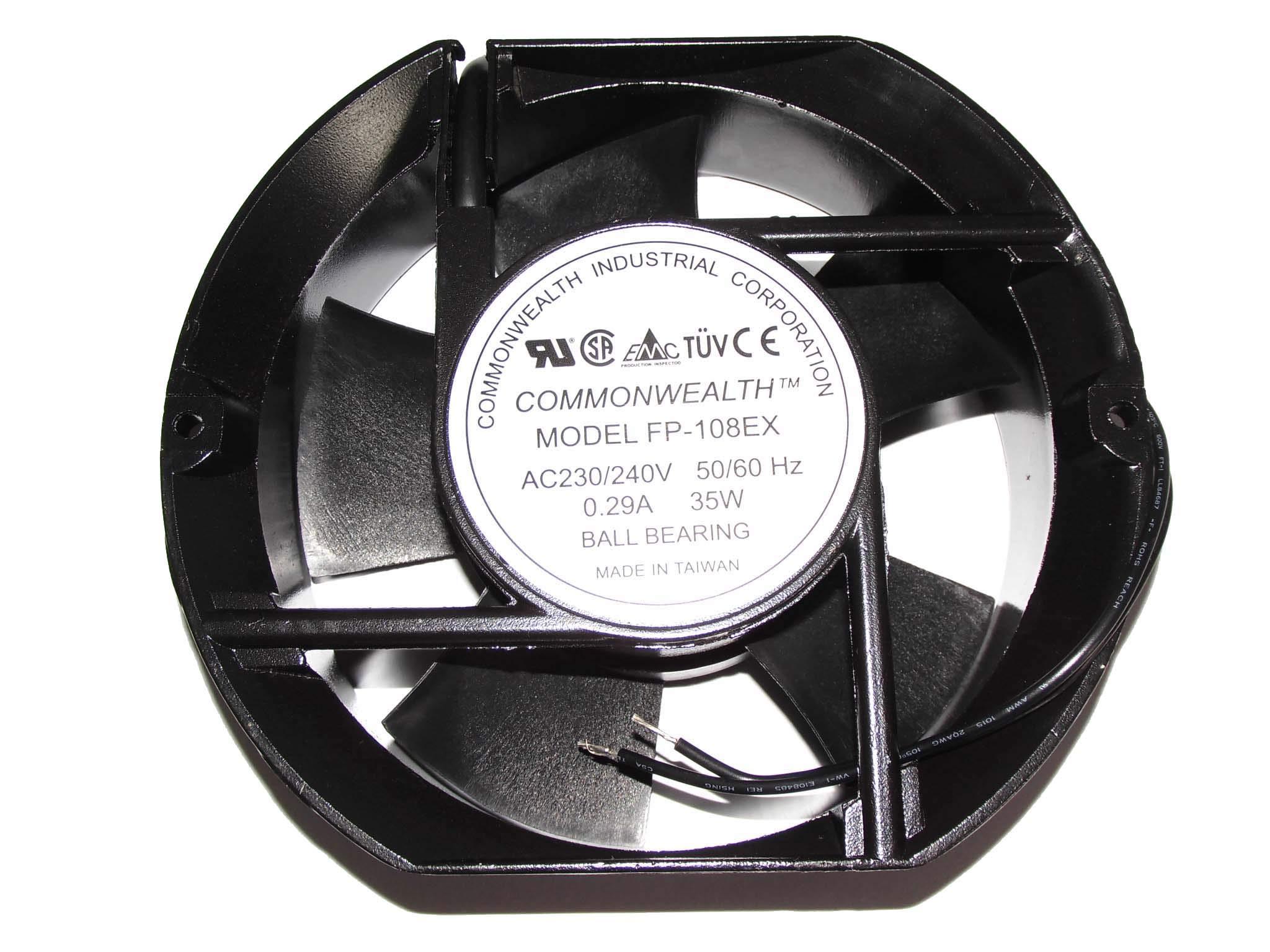 17cm FP-108EX 230/240V 50/60Hz 0.29A 35W 2Wire ac Fan