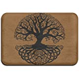 Indoor/Outdoor Door Mats With Celtic Tree Knots Printed For Front Porch