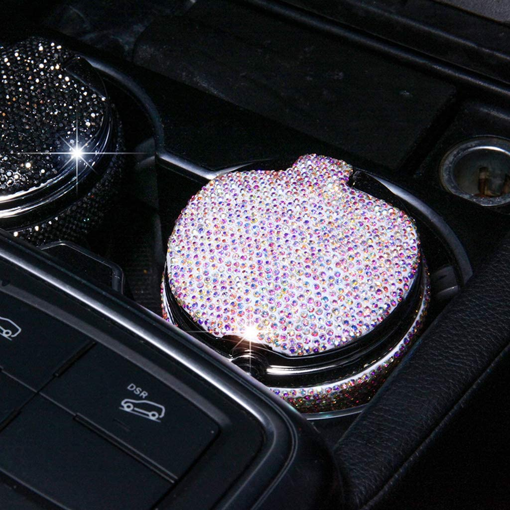 R-WEICHONG LED Tragbarer Aschenbecher,Tragbarer Aschenbecher Mit Blauer LED-Anzeige F/ür Aschenbecherhalter in Den Meisten Fahrzeugen