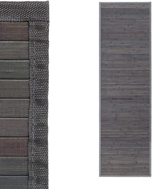 D,casa Alfombra pasillera Industrial Gris de bambú de 60 x