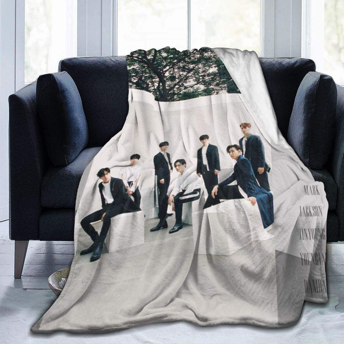 "YunDon 3D Printing Ultra-Soft Micro Fleece Blanket,GOT7 You Calling My Name Blanket Sheet for Home Bed,Sofa,Dorm 50""x40"""