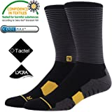 Sports Socks-MEIKAN Professional Sports Athletic Long Socks Fast Dry Moisture Wicking Breathable Anti-Blister Fabric for Cycling, Jogging, Running, Tennis, Marathon, Triathlon, Men Size:6-8