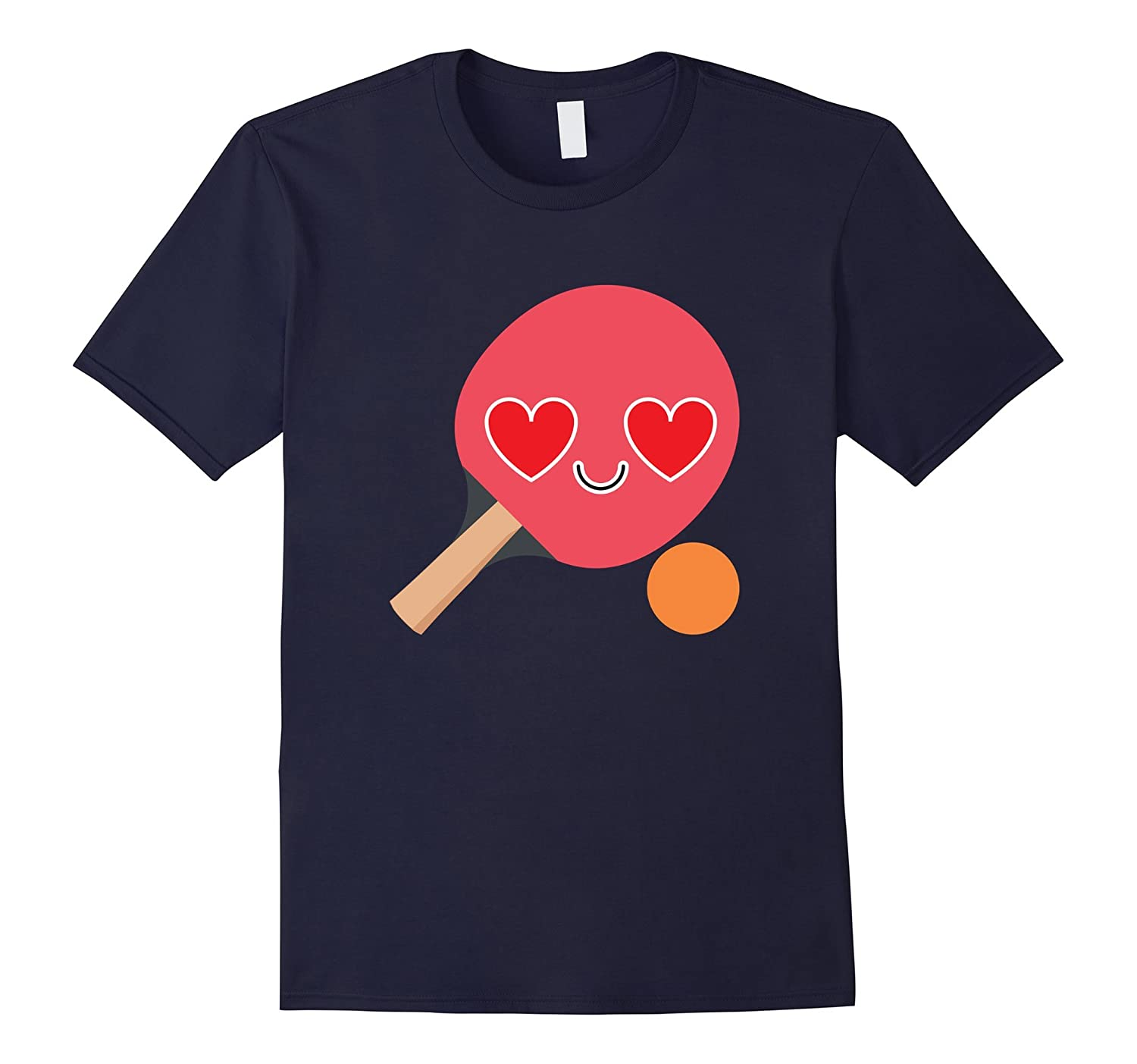 Table Tennis Emoji Heart Eye Shirt Ping Pong T-Shirt Tee-CD