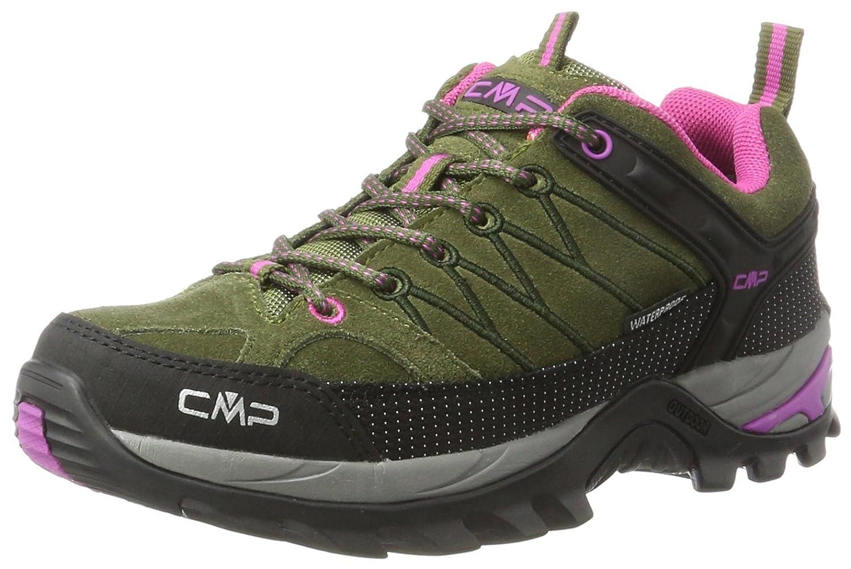 Vert (Olive-hot rose) 39 EU CMP Rigel Faible WP, Chaussures de Randonnée Basses Femme
