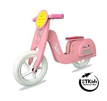 STKids Patinete de Madera Rosa para niños de 2 a 5 años de ...