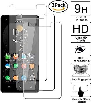 Guran [3-Unidades] Protector de Pantalla Vidrio Cristal Templado para V Mobile A10 Smartphone Cristal Vidrio Templado Film (9H, 2.5D Edge, 0.3mm): Amazon.es: Electrónica