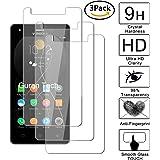 Guran [3-Unidades] Protector de Pantalla Vidrio Cristal Templado para V Mobile A10 Smartphone Cristal Vidrio Templado Film (9H, 2.5D Edge, 0.3mm)