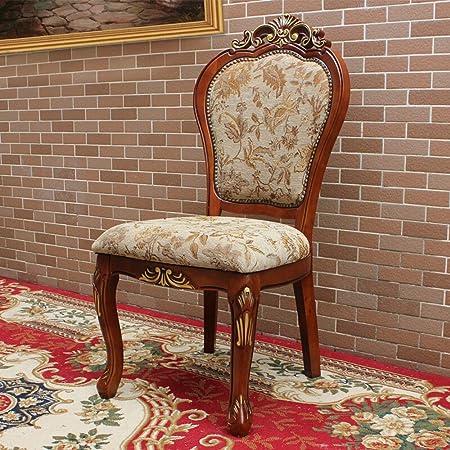 Sedie da Cucina Legno Solido Dining Chair Disegno Gold Leaf