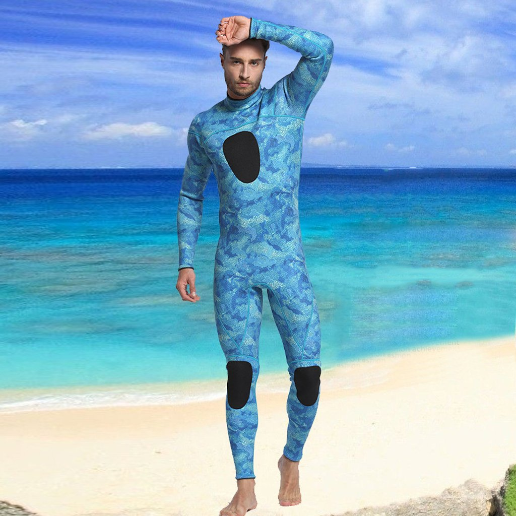 b5309f858c MonkeyJack Mens 3mm Neoprene Wetsuit Full Length Diving Snorkeling Wet Suit  Kayak XL for weight 75-90kg