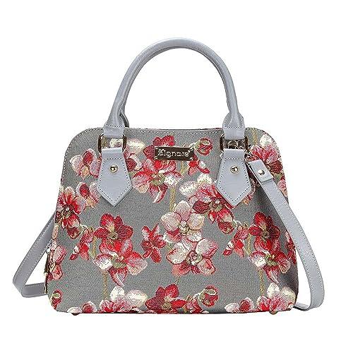 282c543a6e Borsa Signare a spalla convertibile in tessuto stile arazzo alla moda  Orchidea