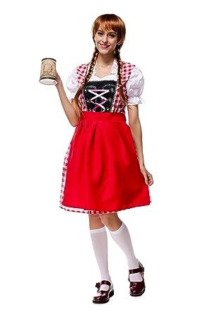 679e9d1b41b Amazon.com: PoppyCos Women German Dirndl Dress Traditional Bavarian ...