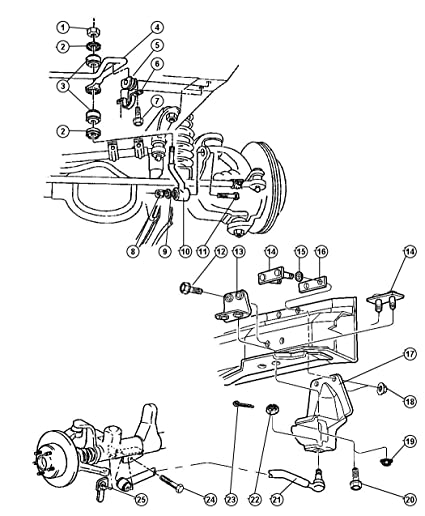 Amazon Com Mopar 5200 7118 Suspension Track Bar Automotive
