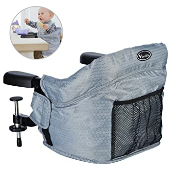 Upgrade Clip On Table Baby Highchairs Grey Safety Steel High Chair