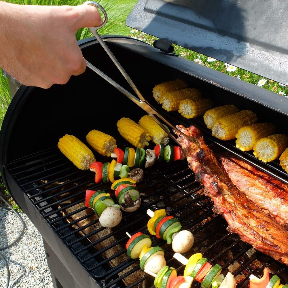 Smokebite Hochwertige professionelle Grillzange mit geriffelten Enden 32cm