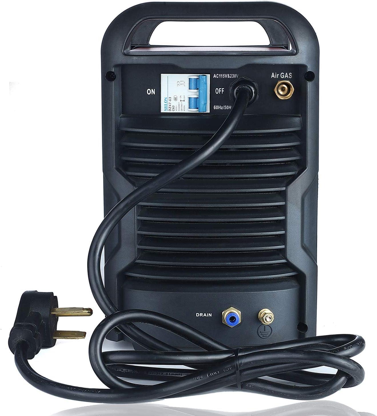 7//8 in Amico CHF-60 60 Amp Plasma Cutter Non-touch Pilot Arc Clean Cut 120//240V Dual Voltage Cutting Machine.