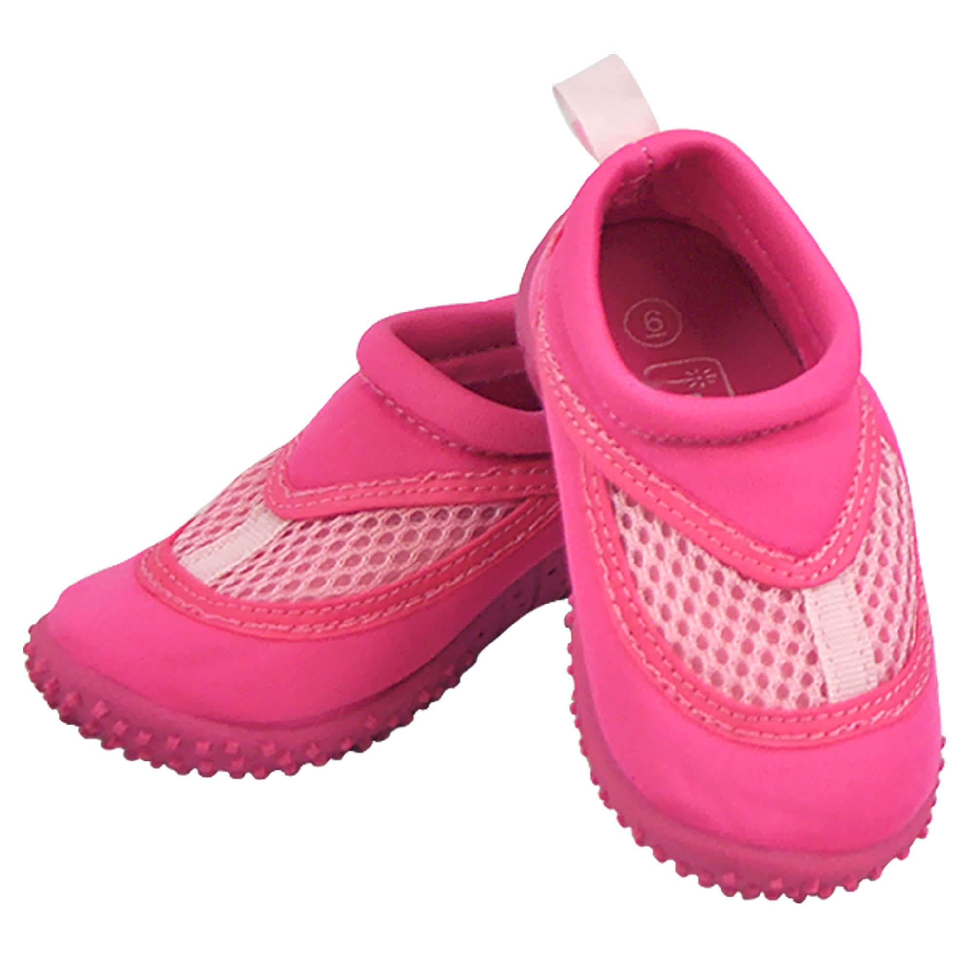 iplay Sand and Water Shoes for The Pool Beach - Non-Slip Sole- Pink - Size 4