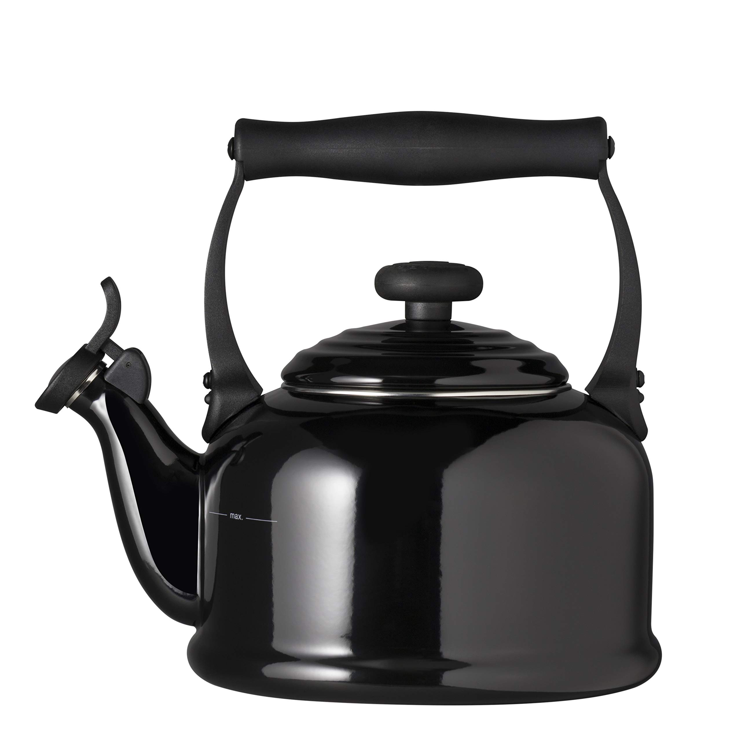 Le Creuset Traditional Kettle with Whistle, Black, 2.1 L