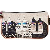 Laurel Burch Cosmetic Bag Set, Wild Cats, 3-Pack