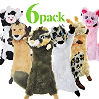 SHARLOVY Dog Squeaky Toys No Stuffing, 6 Pack Dog Toys Crinkle Dog Toys for Small...