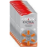 Rayovac Extra Advanced - Pilas audifono Zinc Aire A13/PR48, pack de 60 unidades, color naranja