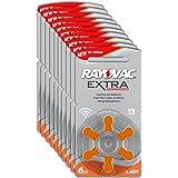Rayovac Extra Advanced Zinc Air Hearing Aid Batteries, Size 13, Orange Tab, Pack of 60