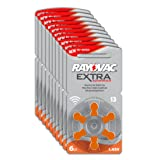 Rayovac Extra Advanced Zinc Air Hearing Aid Batteries, Size 13, Orange Tab, Pack of 60