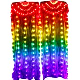 Wgwioo Belly Dance Silk Veil LED Light Stage Props for Ladies