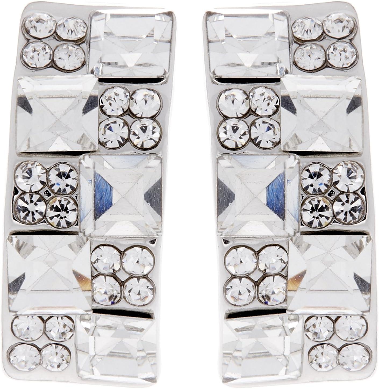 Clip en los pendientes - la plata dorada y cristales y piedras claras - Agatha por Bello London