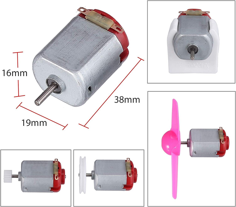 86 PIECES 6 3 VOLT DC Mini Motors DIY Kit Rectangular Electric 24000 RPM Hobby