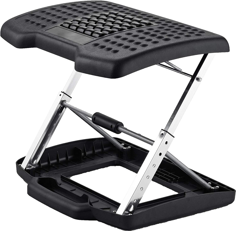 Adjustable Height Foot Rest Stool Under Desk Office Ergonomic Portable Comfort