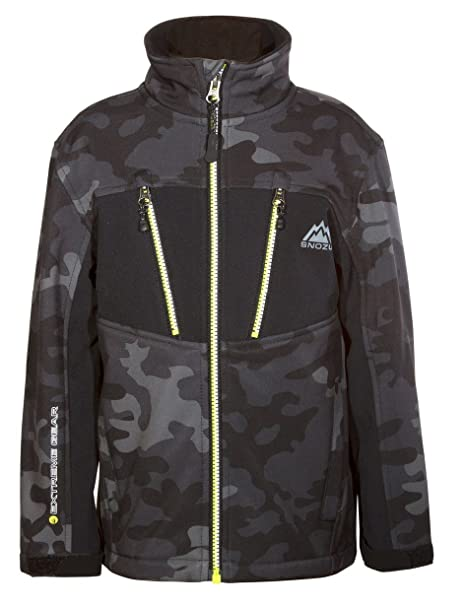 Snozu Boys Softshell Jacket - DARK GRAY CAMO