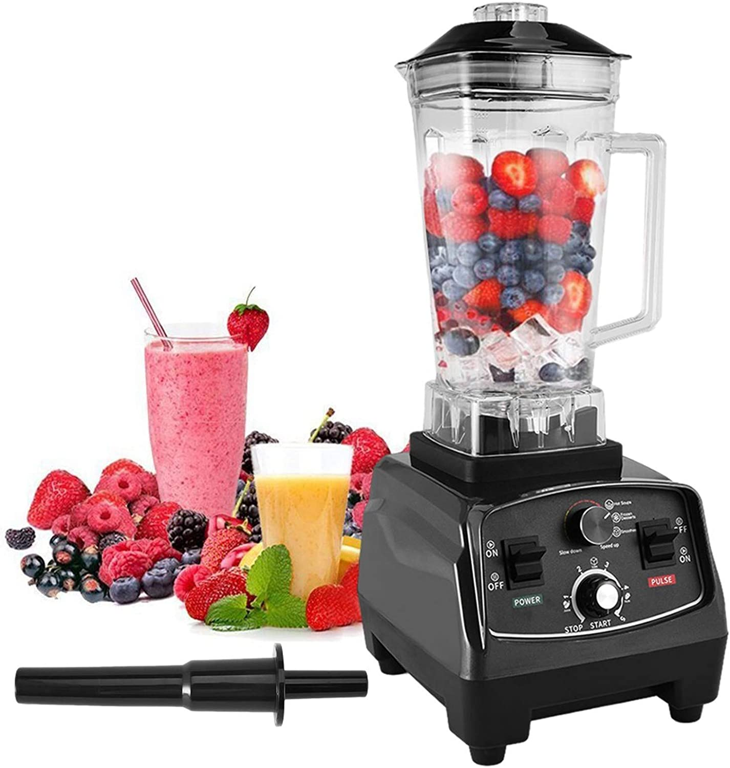 1000W High Speed Professional Blender, Kitchen Countertop Smoothie Maker, Blenders for Fruit Shakes and Smoothies