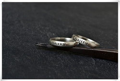 Jun Paare Ring Geek Engagement Band Ring Alternative Versprechen