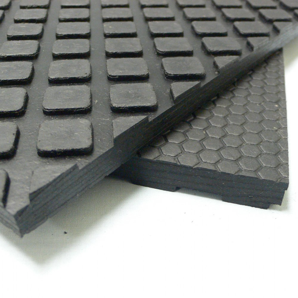 Rubber-Cal Maxx Tuff Heavy Duty Protective Mat, Black, 12mm x 3 x 4-Feet