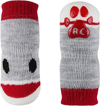 USA SELLER Non Slip Grip Dog Cat Socks Skid-Free PURPLE for Small Breed S L M