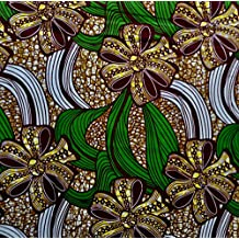 Ankara Fabric- African Print Clothing Designs - Material For Fashion, Dresses, Top, Skirt, Jewelry, Shoes, Bags, Head Wraps, Dashiki Shirt -Styles With Patterns. 6 Yards