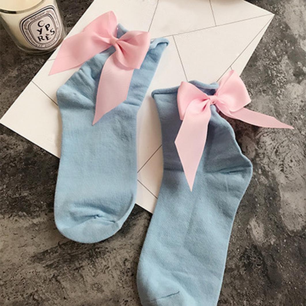 Hunpta Frauen Art Baumwollkn/öchel L/ängen Socken mit Bogen