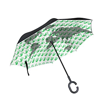 Jstel double layer inverted fingerprints world map umbrella cars jstel double layer inverted fingerprints world map umbrella cars reverse windproof rain umbrella for car outdoor gumiabroncs Gallery