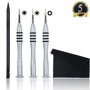 5 Pieces Screwdriver Tool Kit Pentalobe Screwdriver for Macbook Air/Pro and Retina