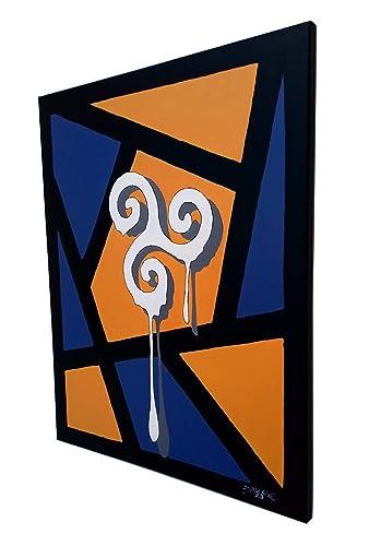 Mesa de Pintura Street-Art - Graffiti-Art 61x50 - Triskell Celtic ...