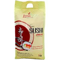 Lotus - Sushi, Japonica Rice, Organically Harvested, Easy To Cook, Rich Taste, Traditional Japnese Meal, ( Pack of One…