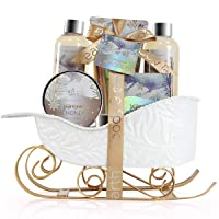 Bath and Body Set - Body & Earth Women Gifts Spa Set with Jasmine & Honey Scent,...