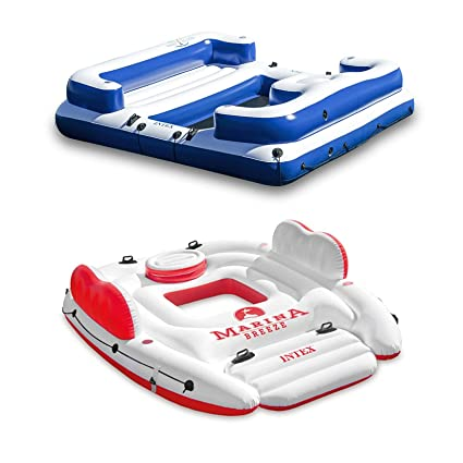 Amazon.com: Intex Marina Breeze Island Raft + Oasis Island ...