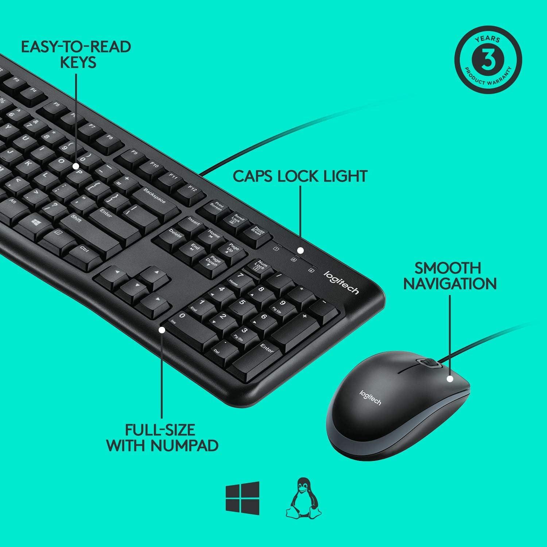 Logitech Desktop MK120 Mouse and Keyboard Combo