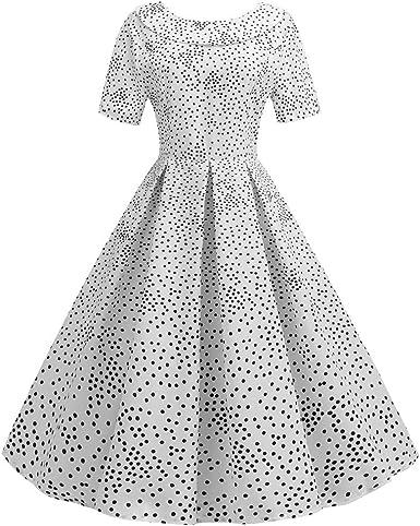 Vestido Vintage de Manga Corta para Mujer, Estilo años 50