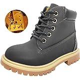 KVbaby Botas para Niñas Niños Impermeable Botas Martin Invierno Infantiles Cordones Anti Deslizante Martin Boots