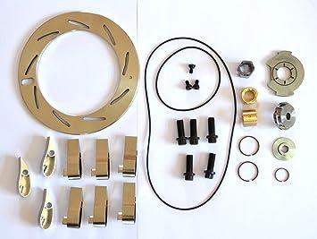 Abcturbo Turbocharger Turbo GT37VA GT3782VA Unison Anillo de boquilla + 9 Vanes + Kit de reparación Kit de reconstrucción para Ford Powerstroke 6.0L 239KW ...