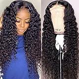 Mureen 4x4 Lace Front Wigs Human Hair Deep Wave Lace Closure Wigs for Black Women 150% Density Brazilian Virgin Wet and Wavy