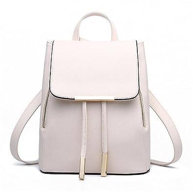 Tyler Morrison Women Backpack Pu Leather Mochila Escolar School Bags For Teenagers Girls Top-Handle