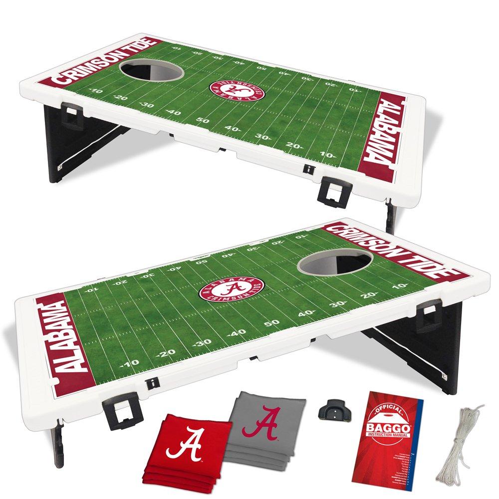 Alabama Crimson Tide Home Field Baggo Bean Bag Toss Portable Cornhole Game with